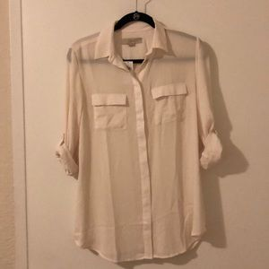 Off white maternity top